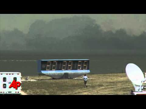 Raw Video: Brush Fire Near Shuttle Launch Site