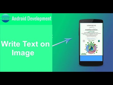 How to set the Text on ImageView in Android step by step YouTube