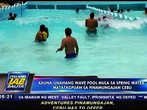 Kauna-unahang wave pool mula sa spring water, matatagpuan sa Pinamungajan, Cebu
