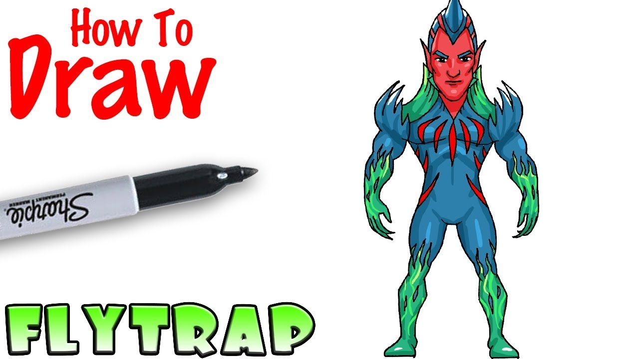 How To Draw Flytrap Fortnite Youtube