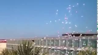 Квадрокоптер против шариков. Прикол из школы =! Разбитый квадрокоптер 😥