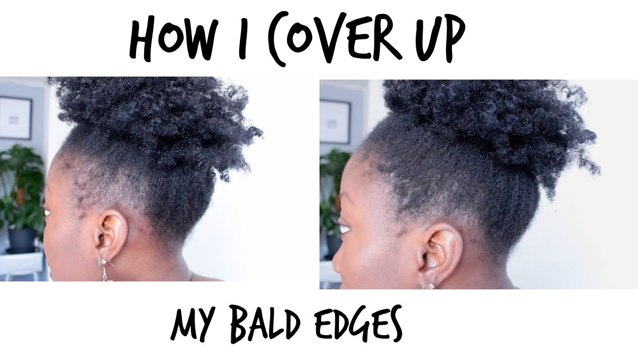how to thicken and cover up bald edges || temporary fix to thin edges! adede
