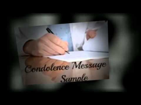 Condolence Message Sample