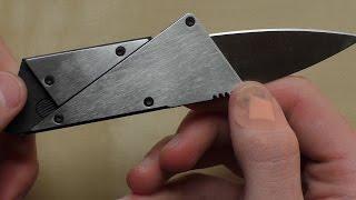 Nůž jako kreditní karta 2.0 | Kovová verze