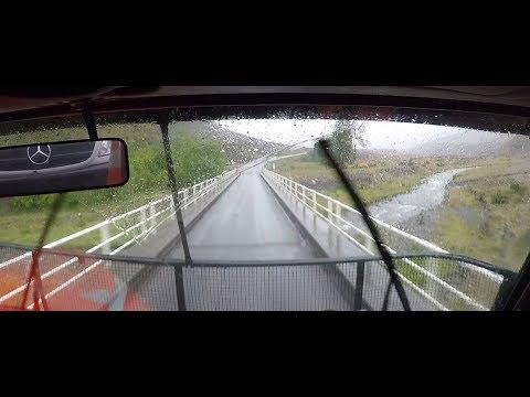 Car Transporter  POV over Arthurs Pass