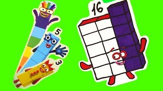 Building Blocks and Number 16! Numberblocks NEW EPISODE! Learn to count!