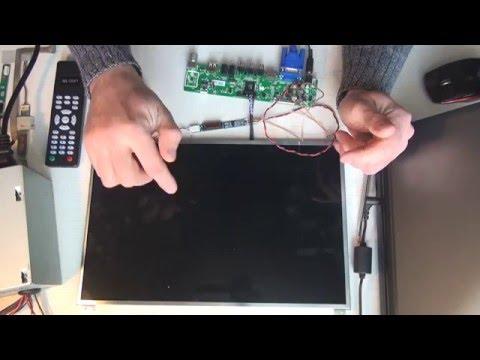 видео: Делаем телевизор из старой lcd-матрицы | how to transform old lcd matrix into a new tv