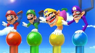Super Mario Party MiniGames - Mario Vs Wario Vs Waluigi Vs Luigi (Master Cpu)