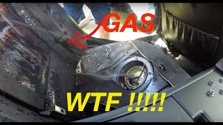 NIGHTMARE Copart BMW E60 Fuel Filter Change /  New MAF Also Cleaning Leather With Gasoline !!!