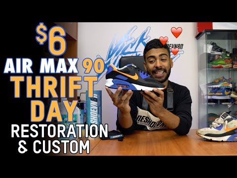 Vick Almighty Restores and Customizes a $6 Air Max 90 Thrift Story Find | Reshoevn8r