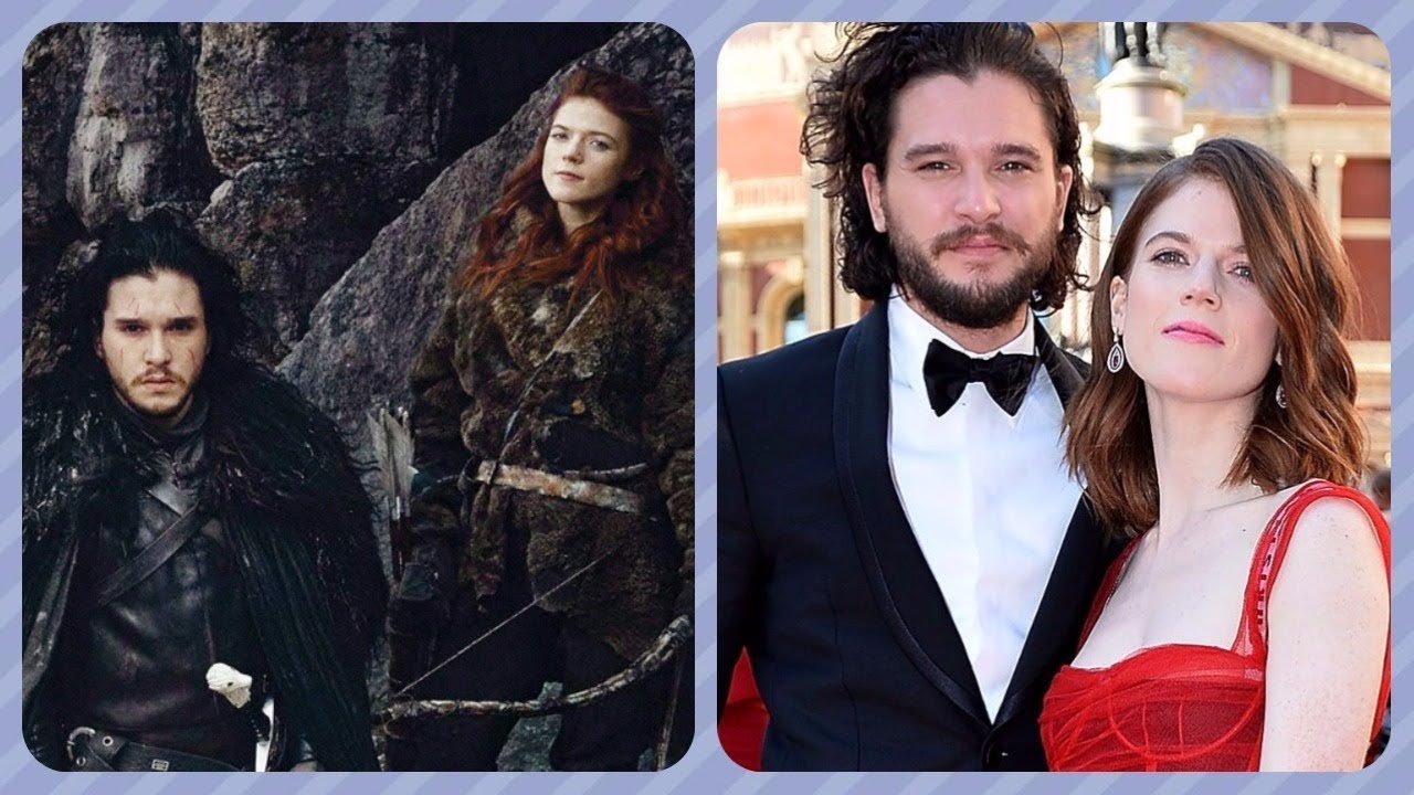 Kit Harington And Rose Leslie Jon Snow And Ygritte In Game Of