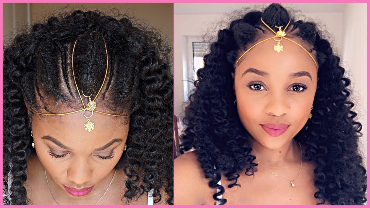Cute Protective Style Ethiopian Habesha Braids On 4c Natural Hair Youtube