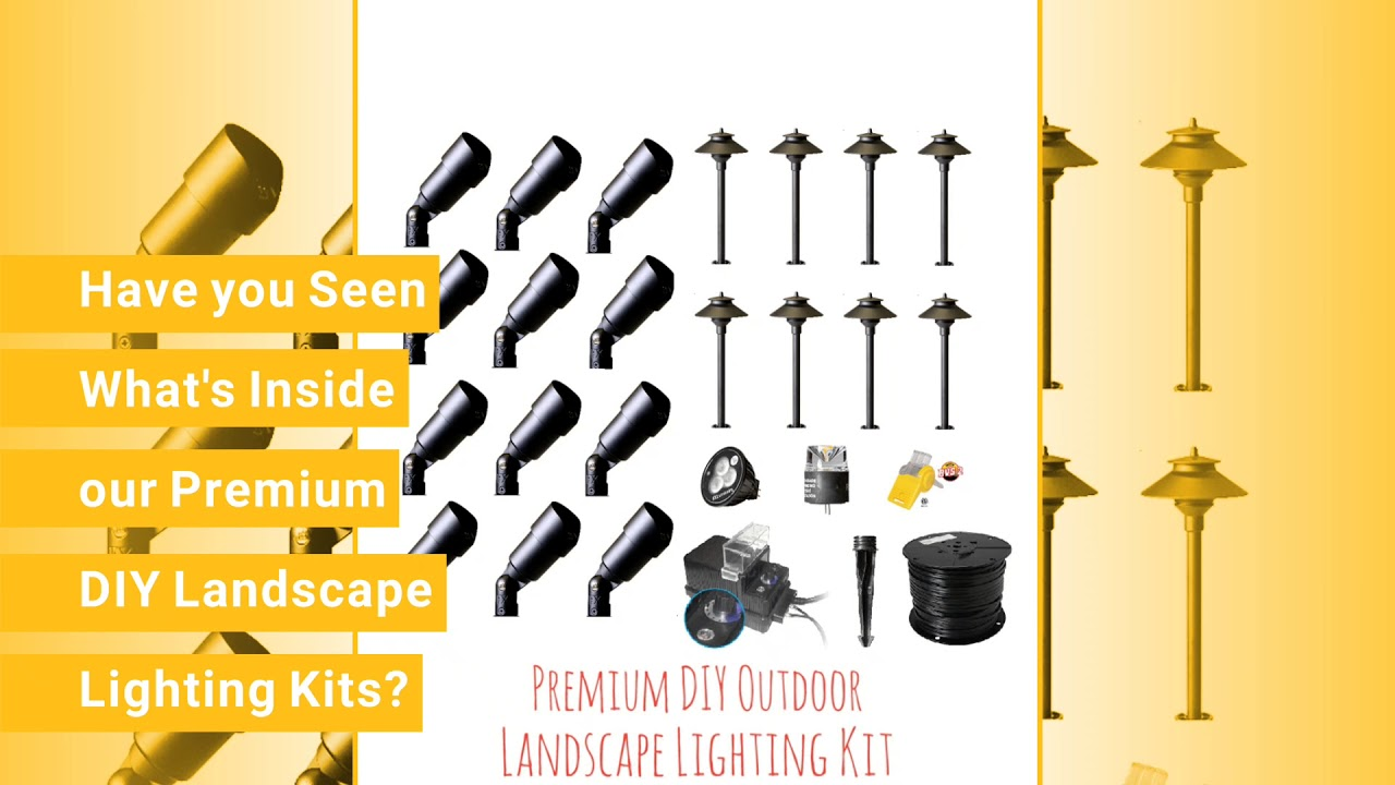 Do it yourself low voltage landscape lighting premium kits youtube do it yourself low voltage landscape lighting premium kits mozeypictures Image collections