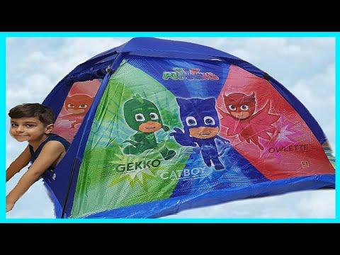 Pijamaskeliler çadırı kurduk içinde oynadık | Eğlenceli çocuk videoları