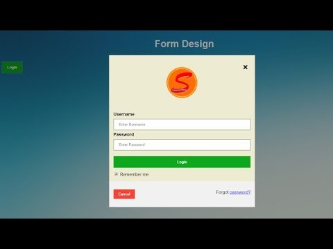 How to Learn Website Design HTML, CSS ,JAVASCRIPT, JQUERY | Form Login button