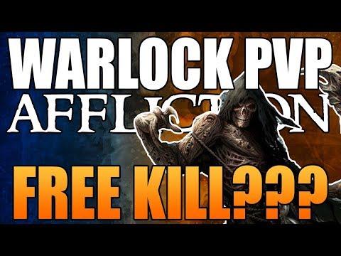 FREE KILL? : AFFLICTION WARLOCK BFA PVP   Battle for Azeroth 8.0.1