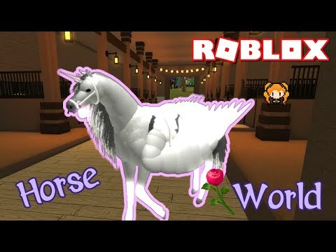 DESIGNING A CUTE ALICORN WITH LOTS OF ITEMS 🦄 ROBLOX HORSE WORLD + SUPER AWKWARD MOMENTS W/ MY CART
