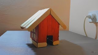 How to make a small house from tetra pak box/DIY