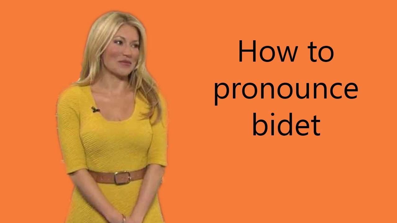 How to pronounce bidet - YouTube