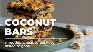 Chocolate Coconut Shredded Wheat Cereal Bars