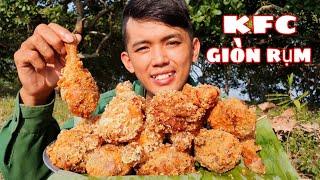 Làm Mâm Gà Rán KFC Khổng Lồ | Ăn Mừng Ngày Lãnh Lương Youtube