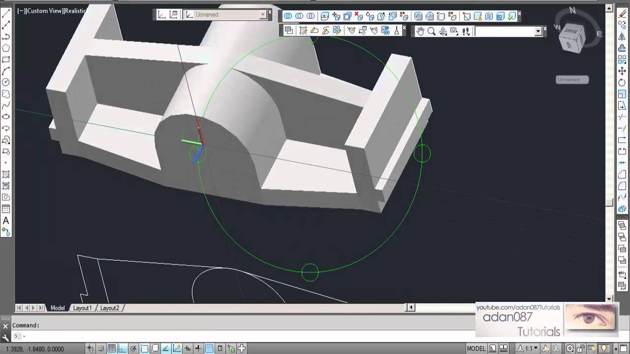 Autocad 3d Drawing 8 Youtube