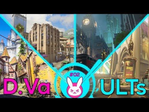 D.Va Ult Guide in A/E Maps: Eichenwalde, Hollywood, King's Row & Numbani - Overwatch #30