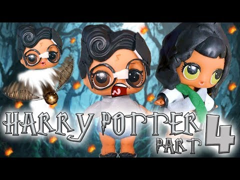 LOL Surprise Dolls Perform Harry Potter and the Sorcerer's Stone Part 4! With Dollface & Treasure! |