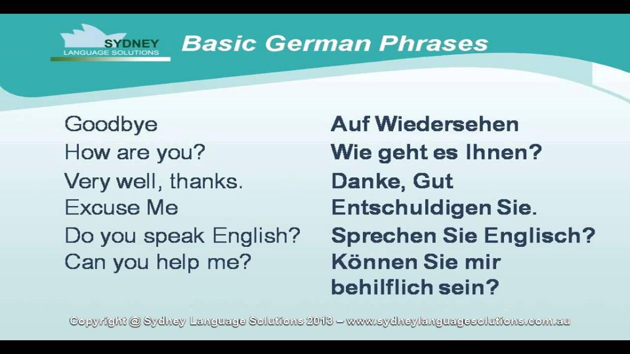 basic german words phrases