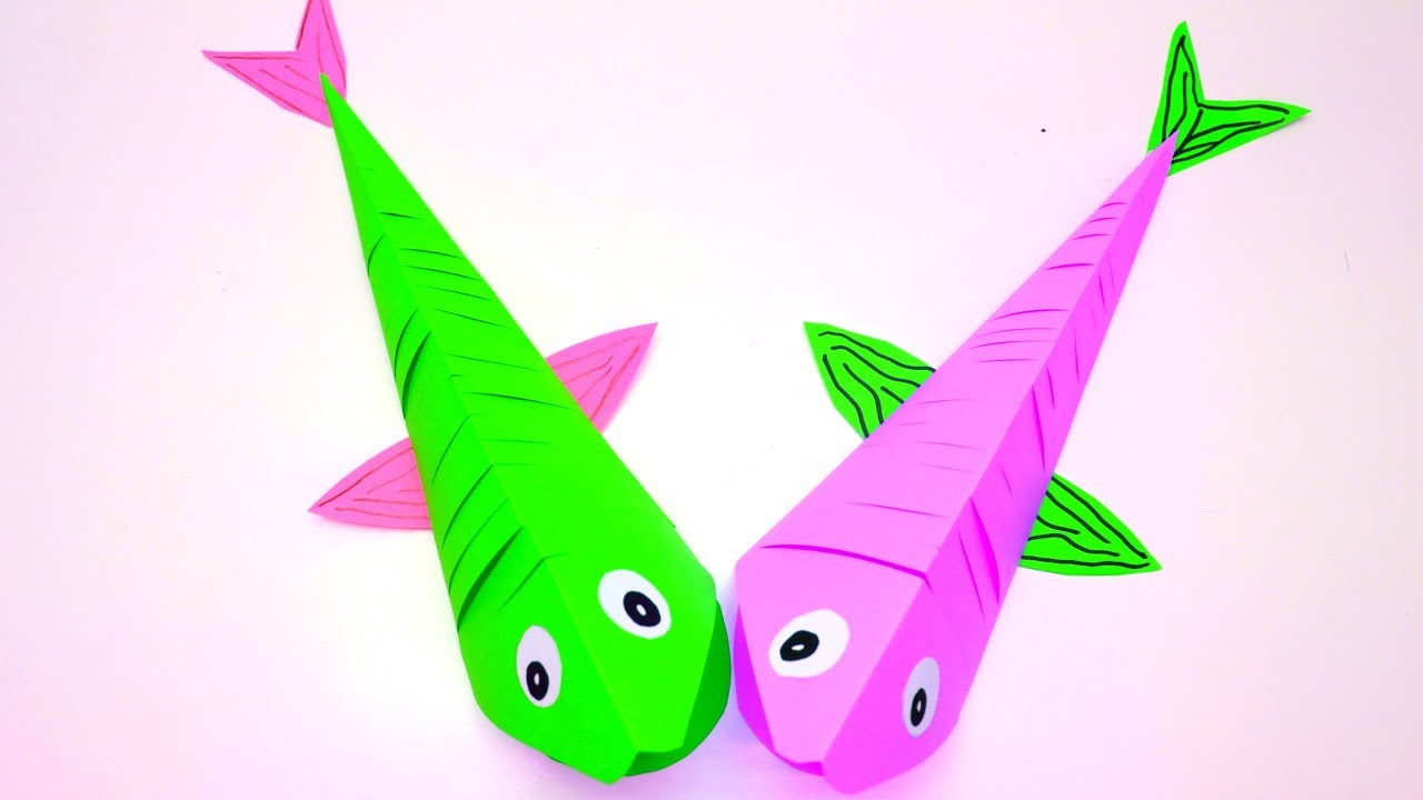 How to make paper fish origami fish paper moving fish craft how to make paper fish origami fish paper moving fish craft emma diy 39 jeuxipadfo Images