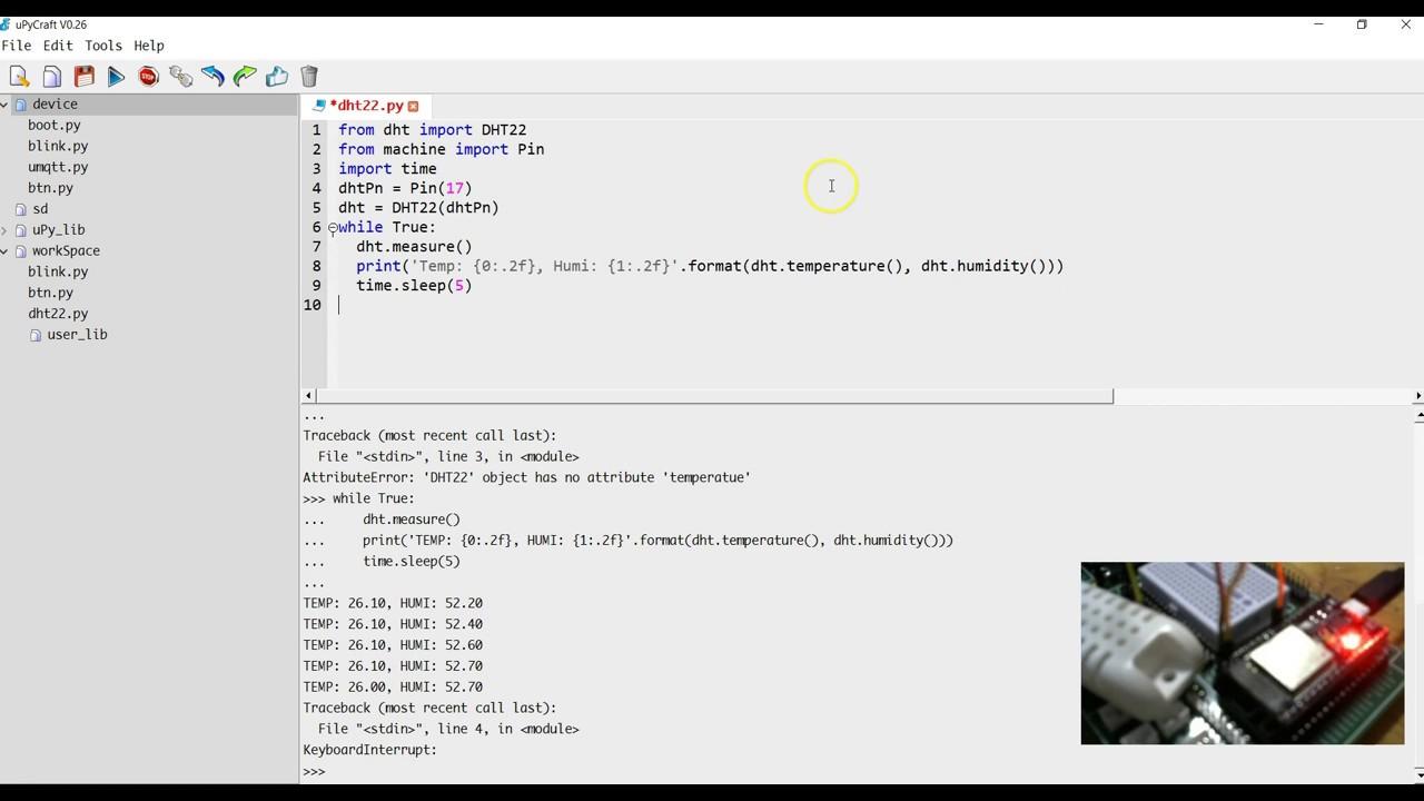 MicroPython Basic DHT22