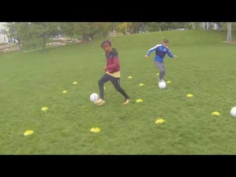 Soccer Drills 45 -  Improve Soccer Skills, Technique and Ball Control.