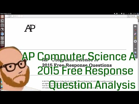 AP Computer Science 2015 Free Response Discussion