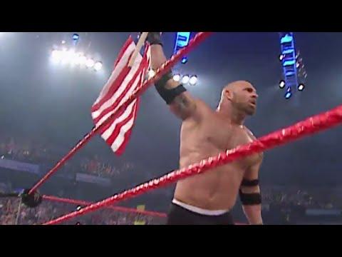 Goldberg beats two Superstars at once: Raw, Dec. 15, 2003