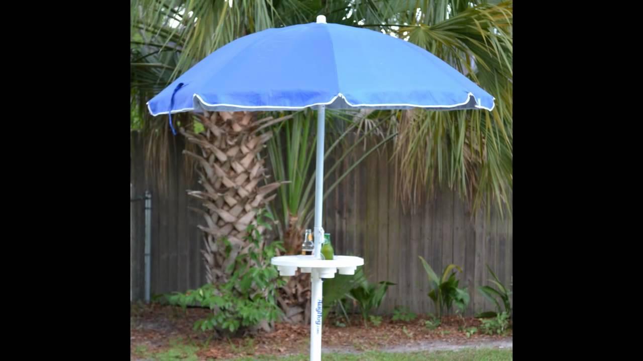 AugBrella Best Beach Umbrella Holder Table And Anchor