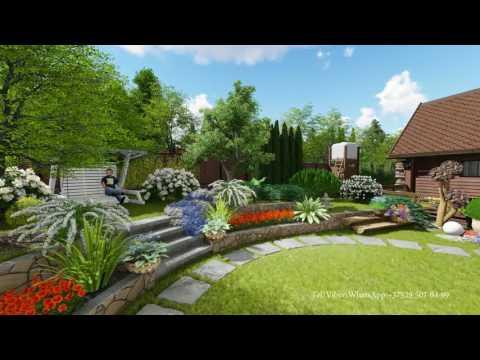 Ландшафтный дизайн  Проект участка 10 соток