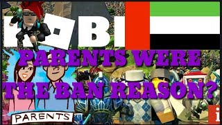 Parents were the reason Roblox is banned in the UAE??? (Roblox)