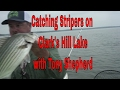 How to catch Stripers with Live Bait, Stripers on Clarks Hill lake with Tony Shepherd