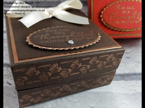 Elegant heat Embossed Gift Box Inspired by my Face Powder Compact!
