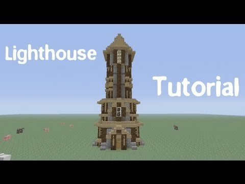 How To Build A Medieval Lighthouse In Minecraft Youtube