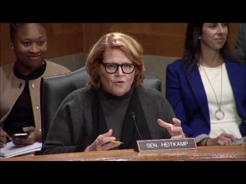 Heitkamp at Senate Committee Hearing on Nominee to Lead Department of Homeland Security
