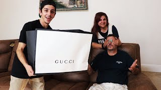 SURPRISING MY DAD WITH $3,000 OF GUCCI!! *emotional* | FaZe Rug