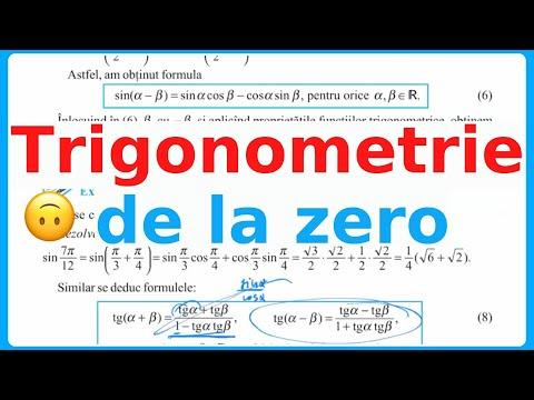 Trigonometrie De La Zero (cl. 10) Functia Sinx, Cosx, Tgx, Ctgx Cerc Trigonometric. Lectia 1