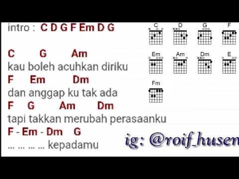 Once-Aku Mau Mencintai Apa Adanya Kunci Gitar + Panduan Cord