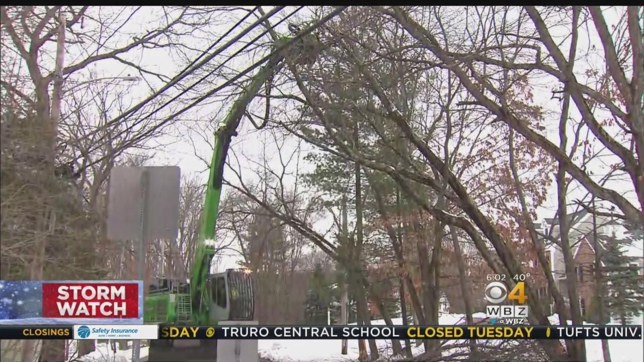 Crews Work To Clean Up Debris Before Next Storm