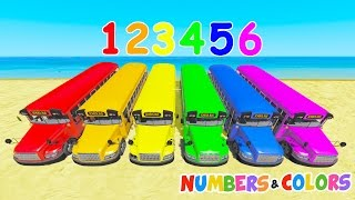 Elementary School Bus Colors w Bullozer 3D Learn colors for children Spiderman cars cartoon for kids