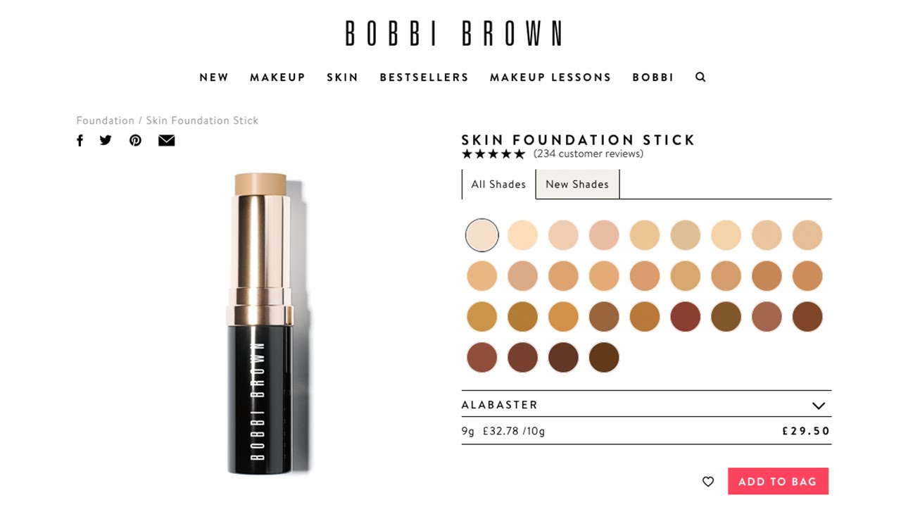 Bobbi Brown Alabaster Foundation Stick Demo Review Youtube