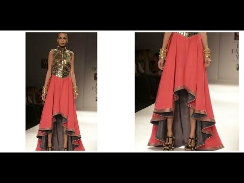 Hi Low Circle Skirt Dress Diy Youtube
