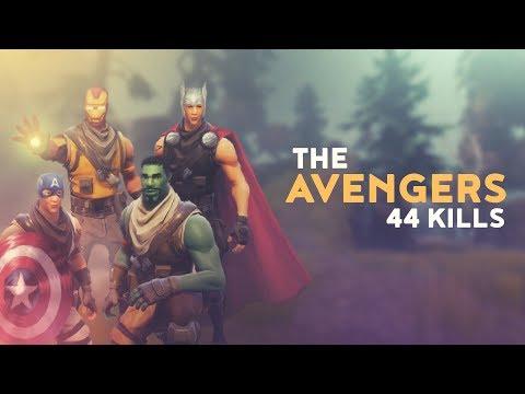 THE AVENGERS - 44 KILLS (Fortnite Battle Royale) thumbnail