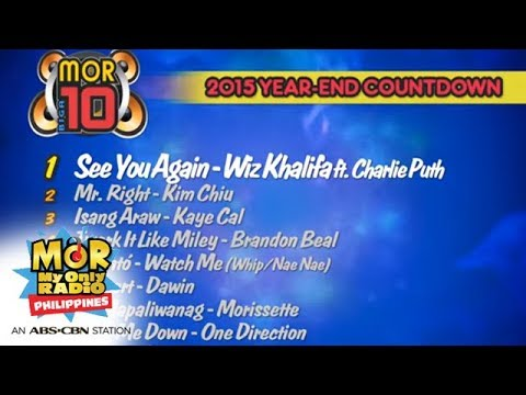 MOR 1019 Biga10  The Top 10 Songs of 2015!